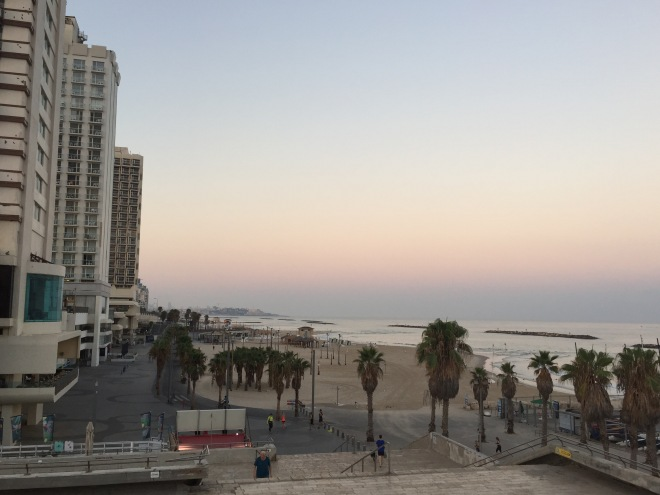 Sunrise over Gordon Beach, Tel Aviv