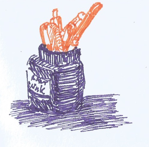 Bottle of Ink Sketch 1
