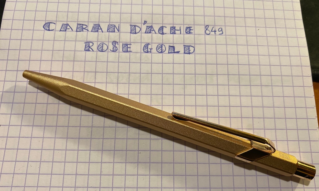img 5606 - Caran D'Ache 849 Brut Rosé (Rose Gold)