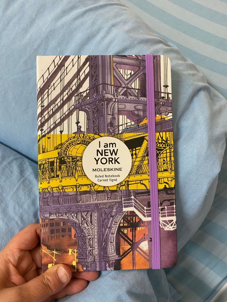 """Photo of the cover of the """"I am New York"""" limited edition Moleskine notebook."""