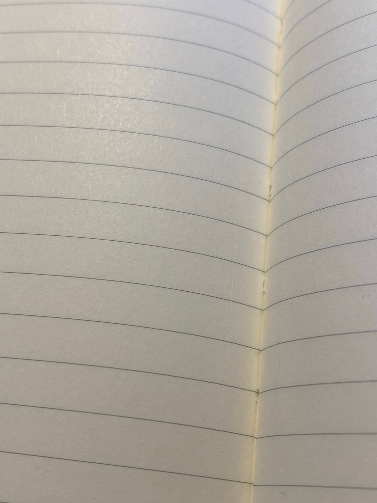 Close up of the micro-perforated paper and the grey lines on a page.